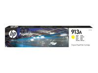 HP 913A - Gul - original - PageWide - bläckpatron - för PageWide 352, MFP 377; PageWide Managed MFP P57750, P55250; PageWide Pro 452, 477, 552 F6T79AE