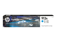HP 913A - Cyan - original - PageWide - bläckpatron - för PageWide 352, MFP 377; PageWide Managed MFP P57750, P55250; PageWide Pro 452, 477, 552 F6T77AE